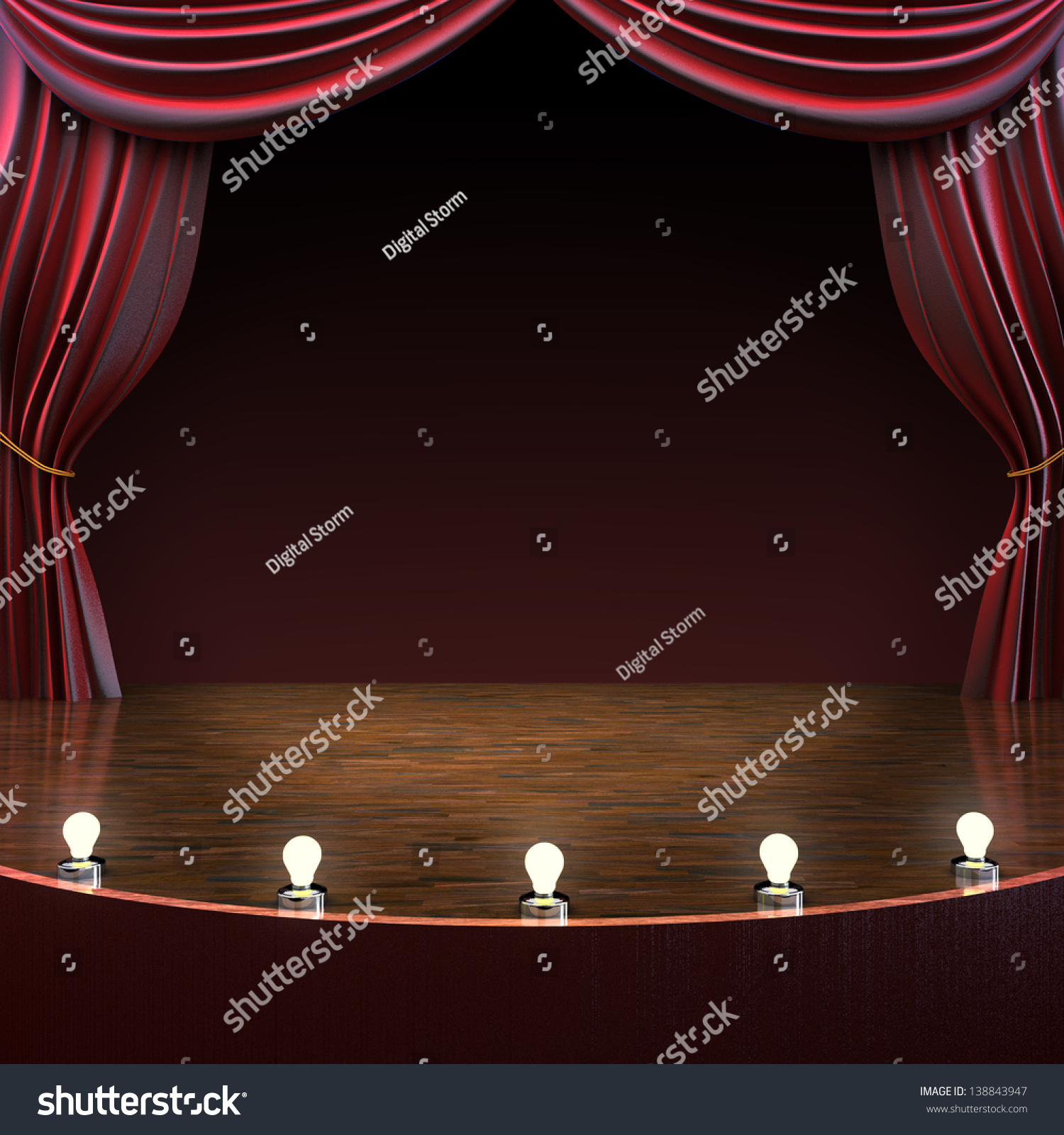 Theater curtains download free vector art stock graphics amp images -  Vectors Illustrations Footage Music Lighted Stage Background Music Comedy Or Performing Arts Concept With Room For Text Or