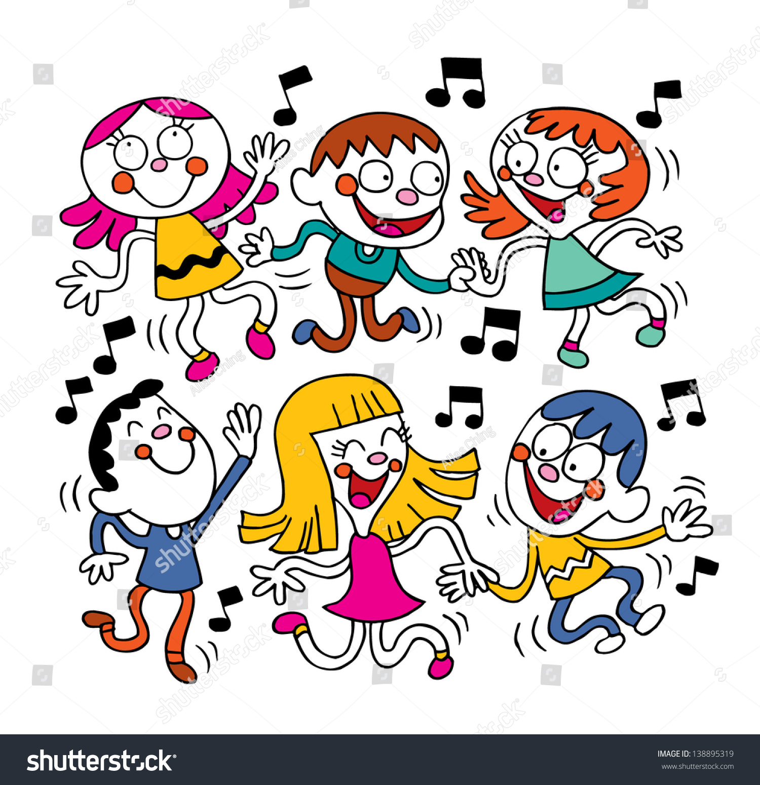 kids dancing stock vector 138895319 shutterstock