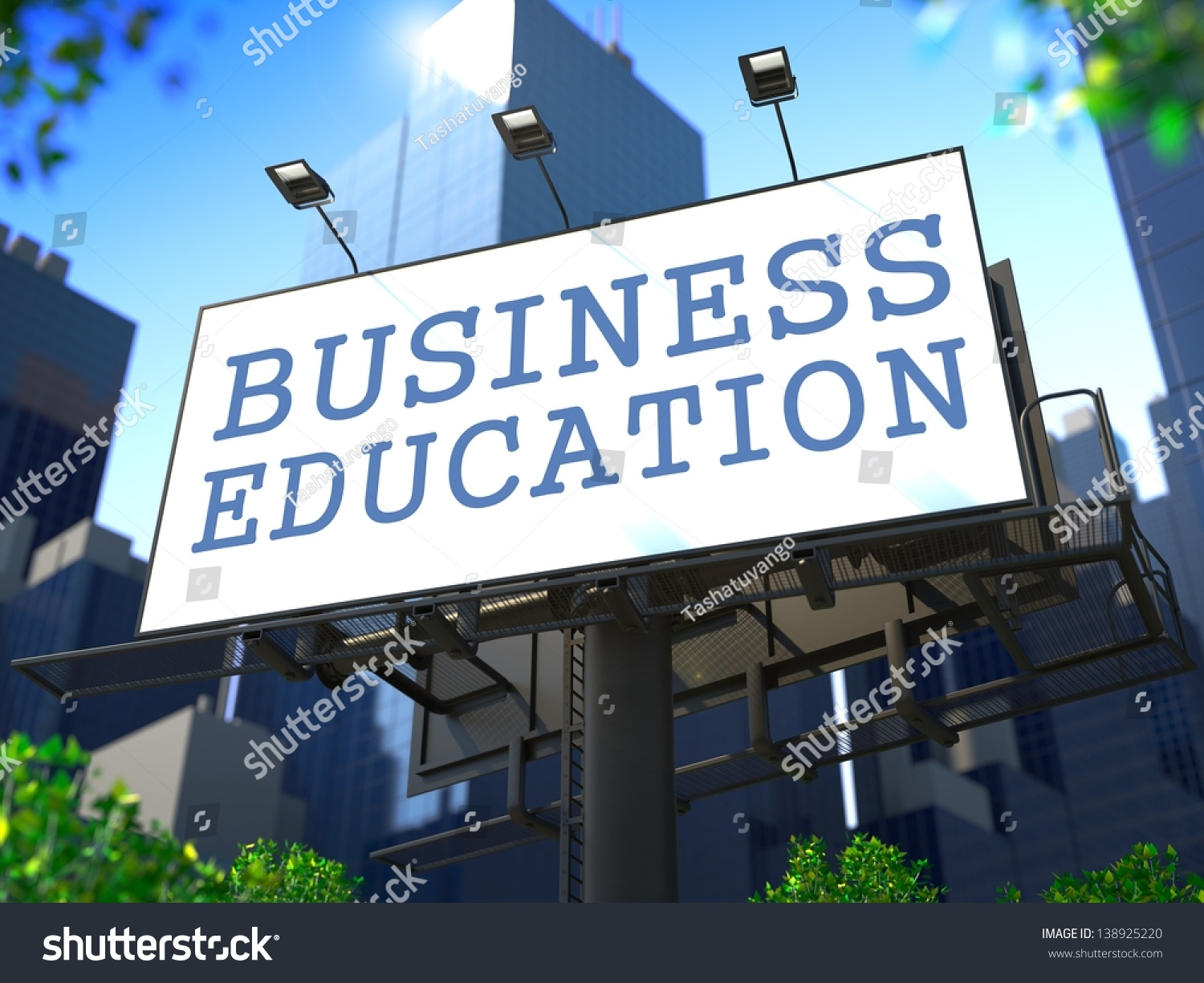 Business Education Concept Sloganbusiness Education On
