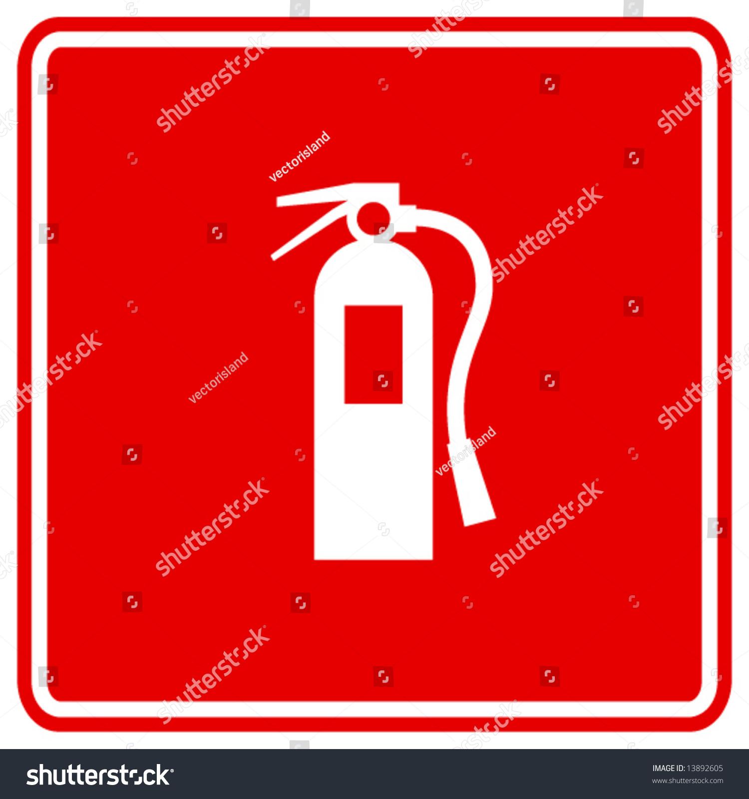 fire extinguisher sign stock vector illustration 13892605