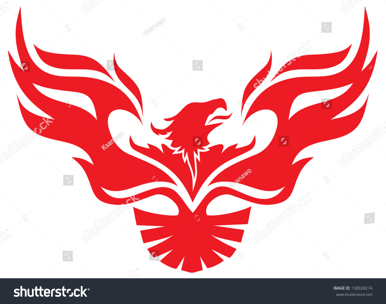 Simple Image Phoenix Stock Vector 138928274 Shutterstock