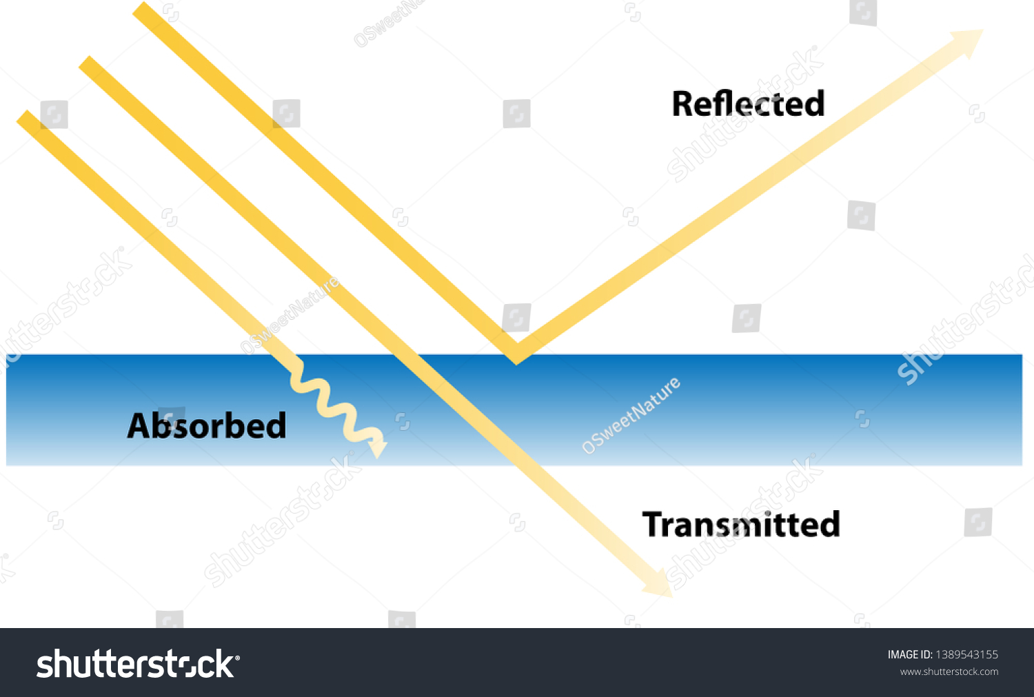How Light Works Properties Light Reflection Stock Vector Royalty Free 1389543155