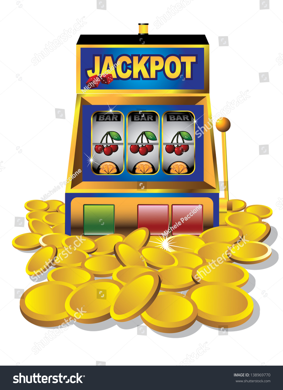 Slot Machine Gold Coins Eps 10 Stock Vector 138969770 - Shutterstock