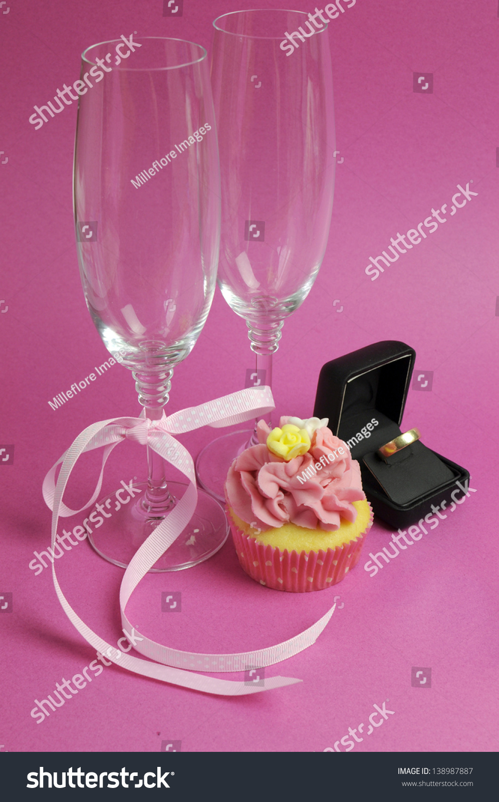 Wedding Theme Bridal Pair Champagne Flute Stock Photo (Royalty Free ...
