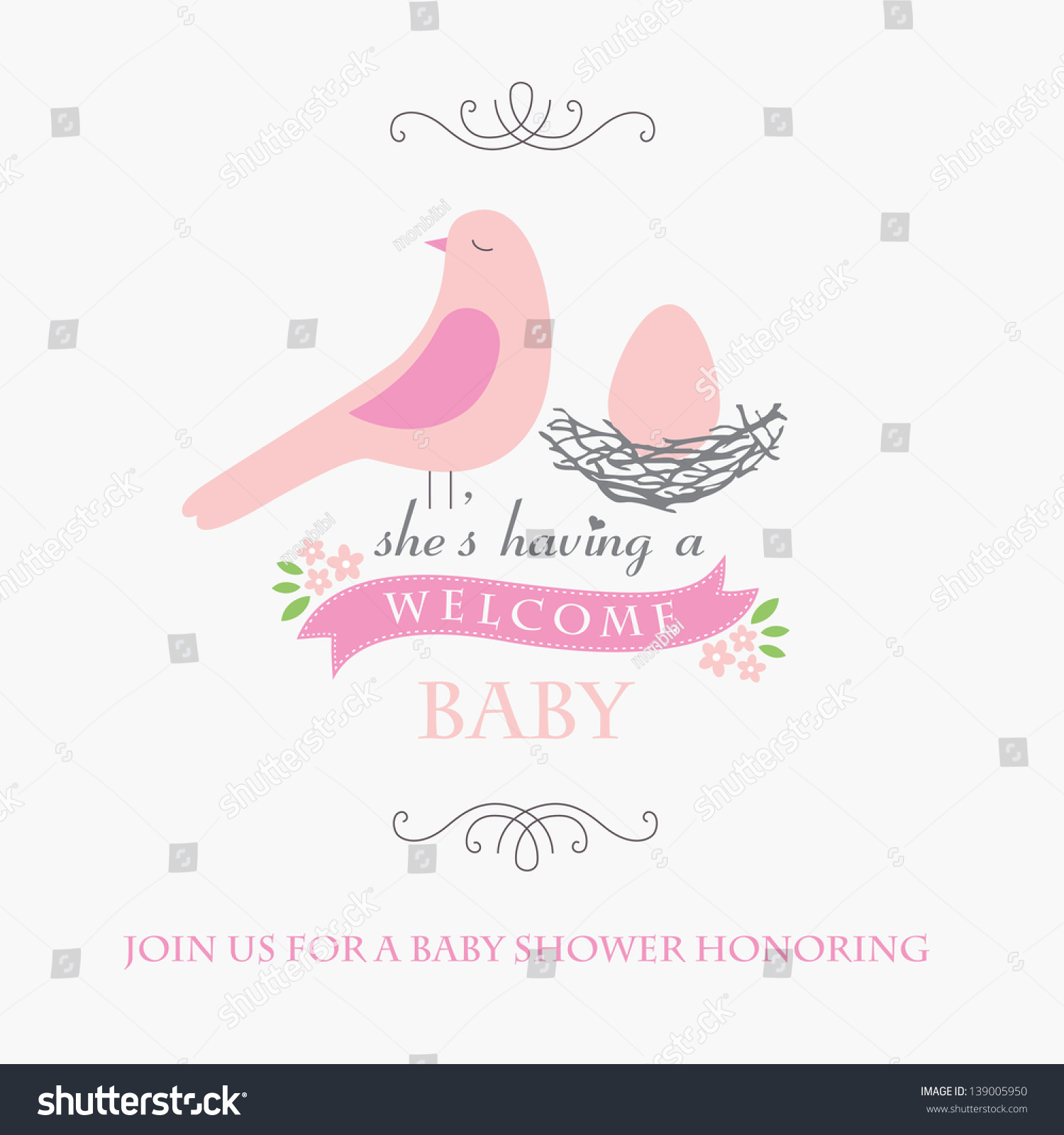 Welcome Baby Card Design Vector Illustration Stock Vector ...
