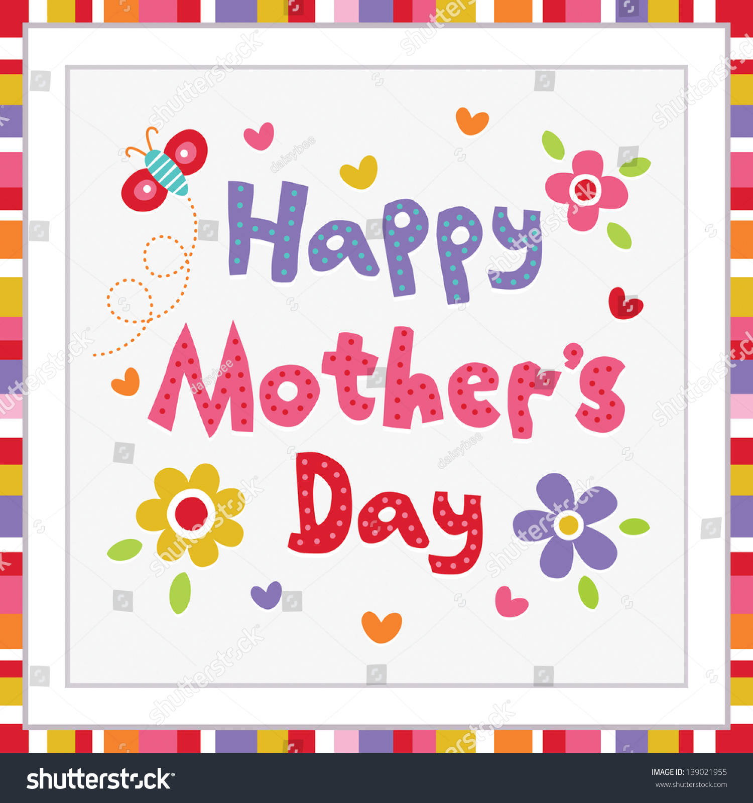 raster happy mothers day card striped stock illustration 139021955 raster happy mothers day card striped stock illustration 139021955