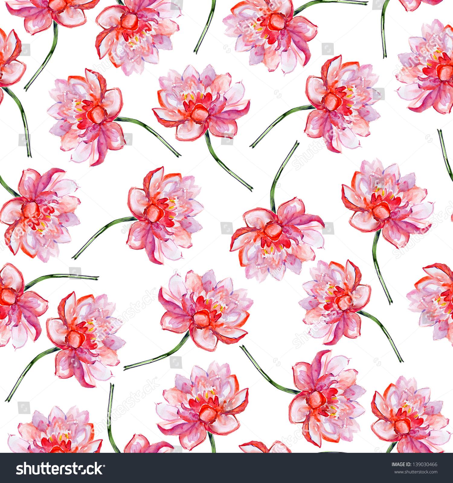 Lotus flower pattern watercolor stock illustration 139030466 lotus flower pattern watercolor izmirmasajfo
