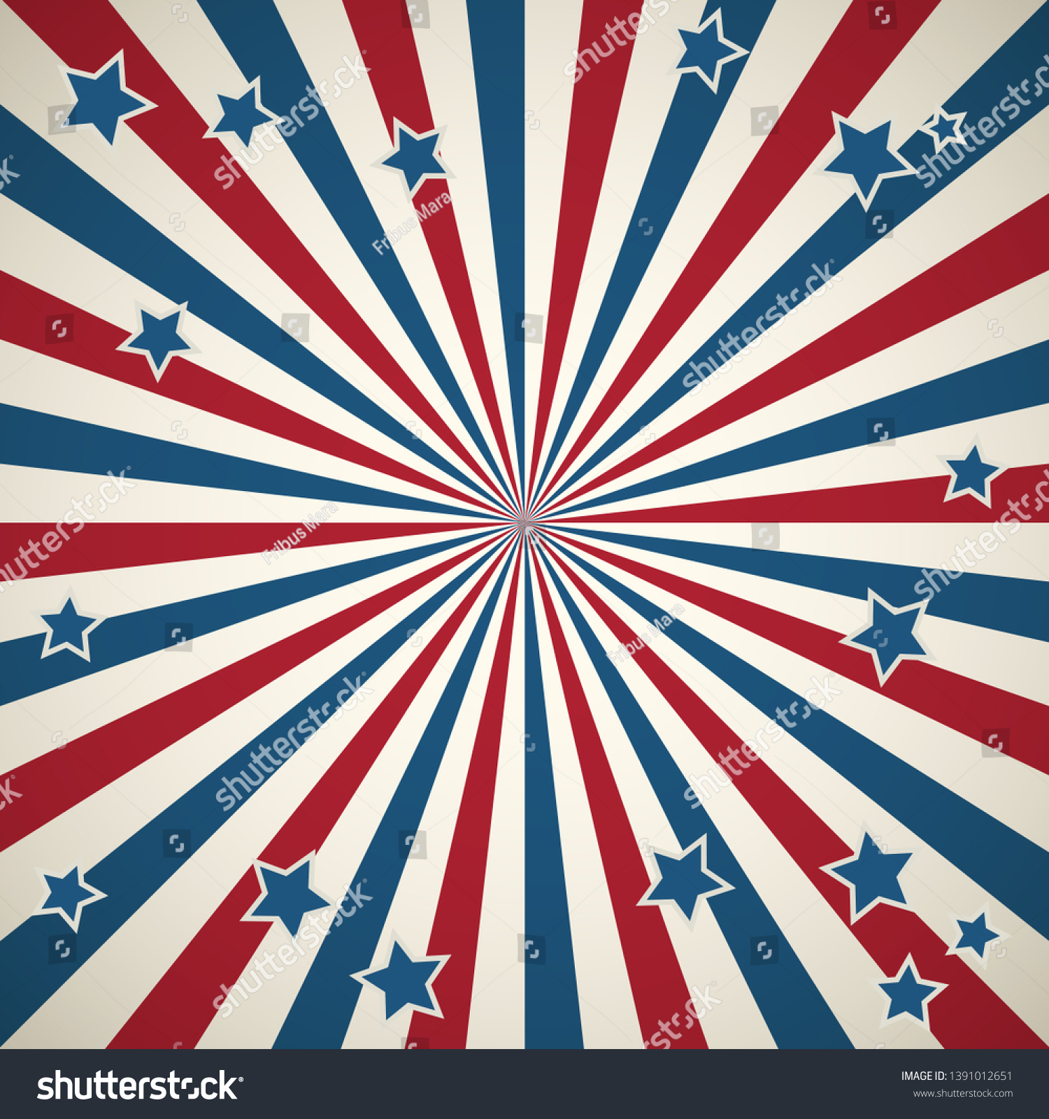 American Patriotic Background United States Independence Stock