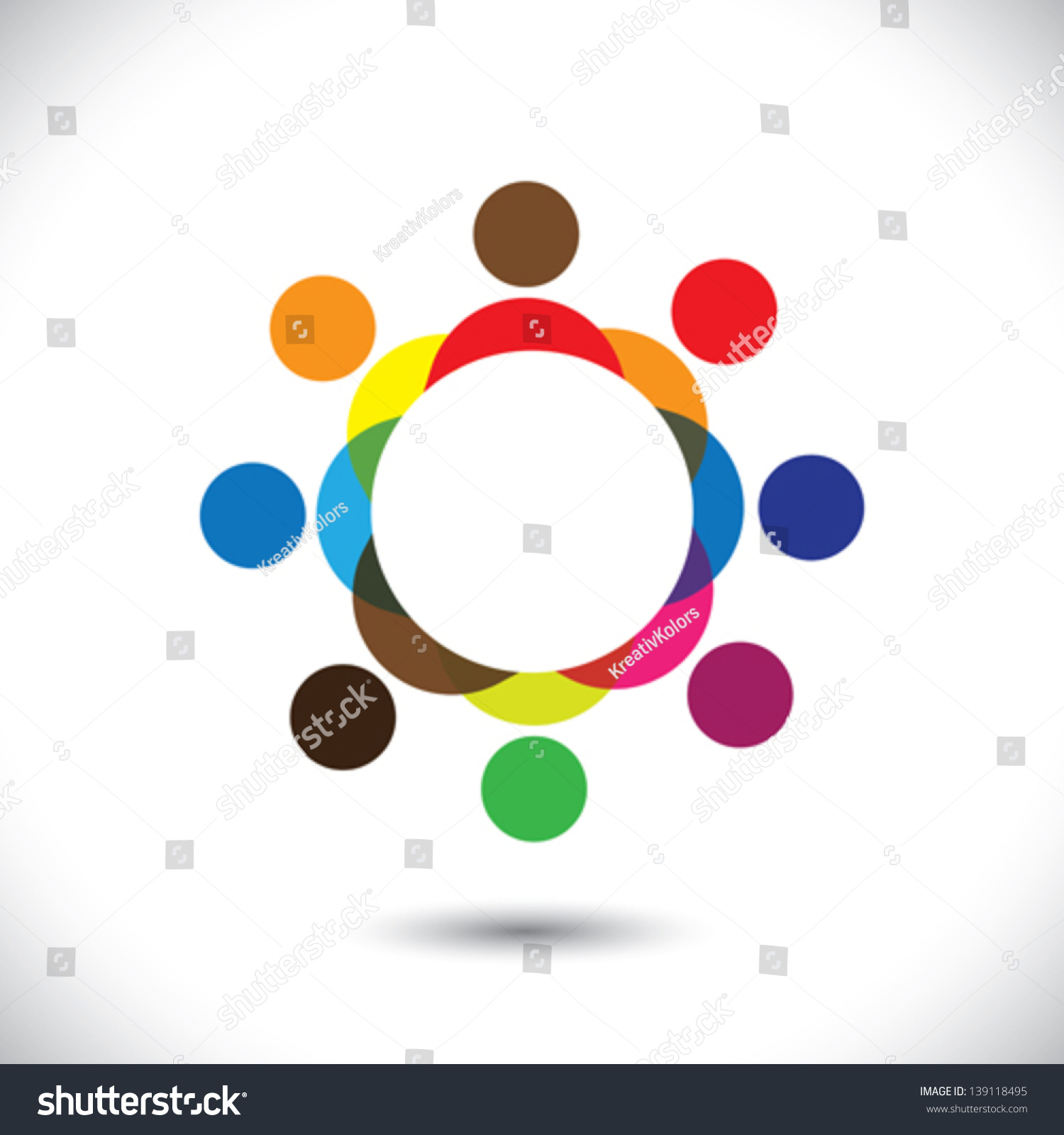 Royalty Free Abstract Colorful People Symbols In 139118495 Stock