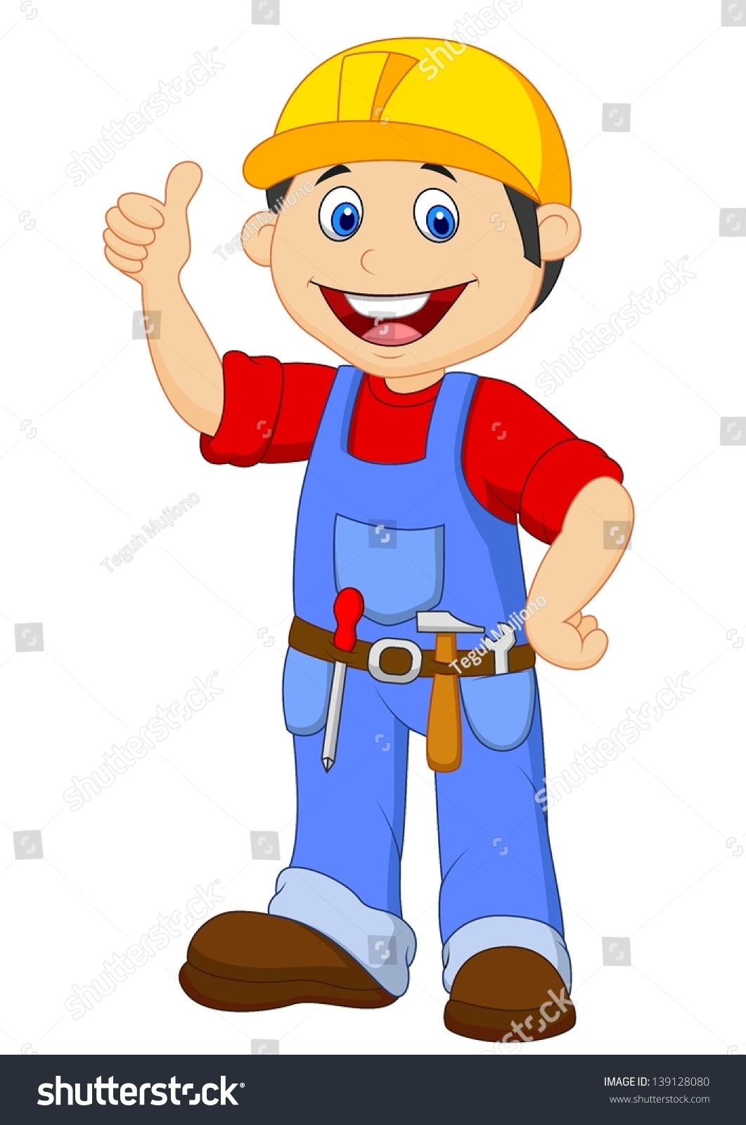 Cartoon Handyman Tools Belt Thumb Stock Vector 139128080 ...