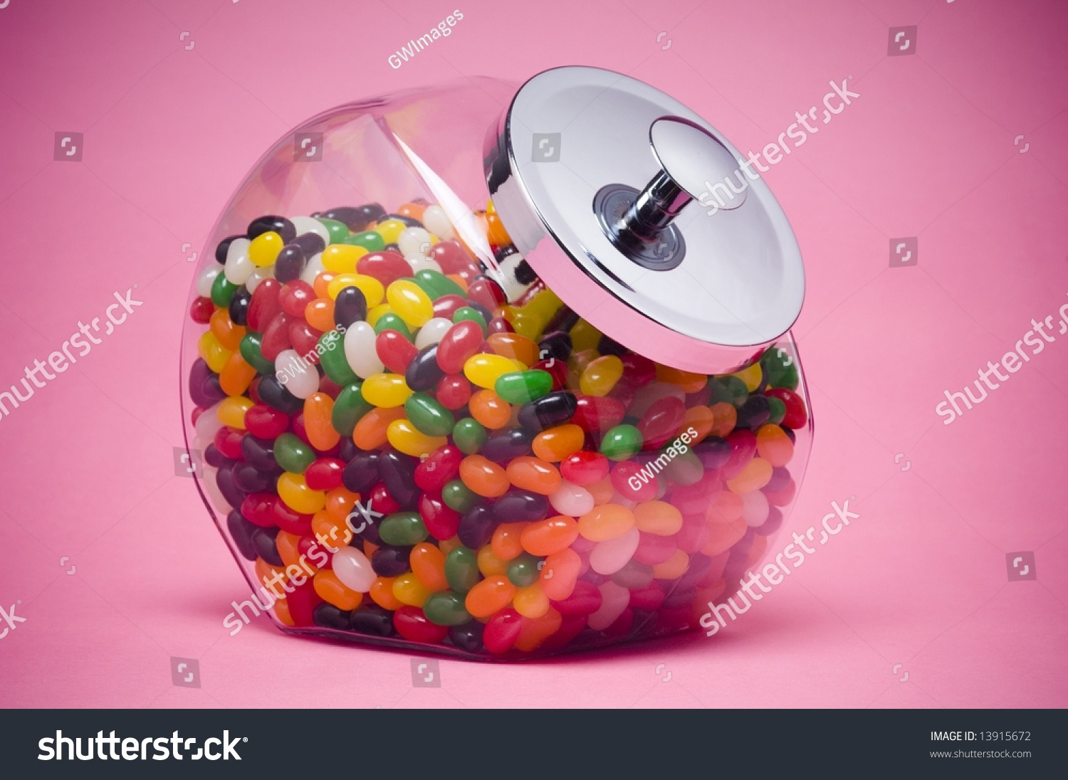 Jelly Beans Glass Container Stock Photo (Edit Now) 13915672 ...