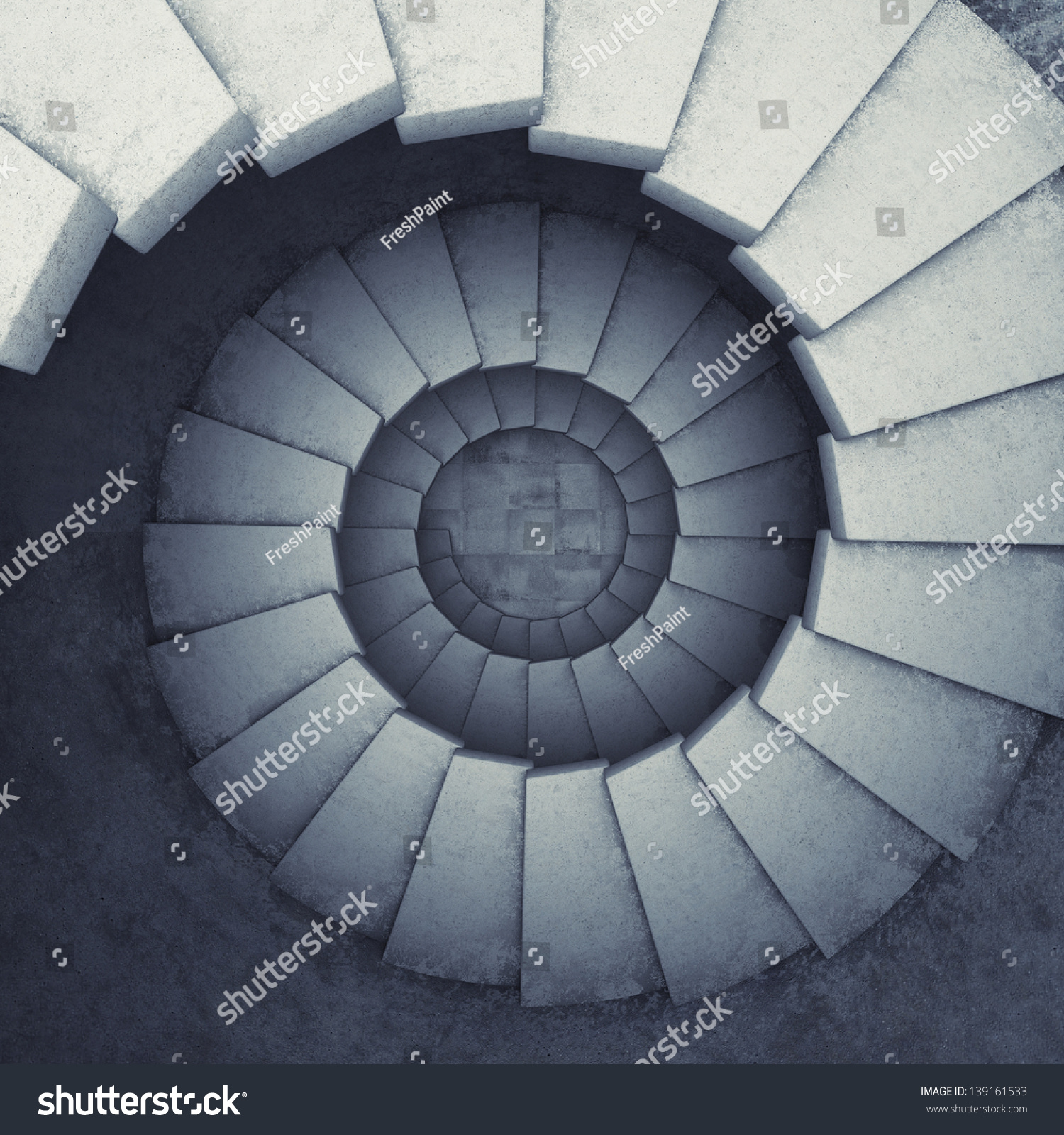 Design Spiral Staircase Made Concrete Stock Illustration