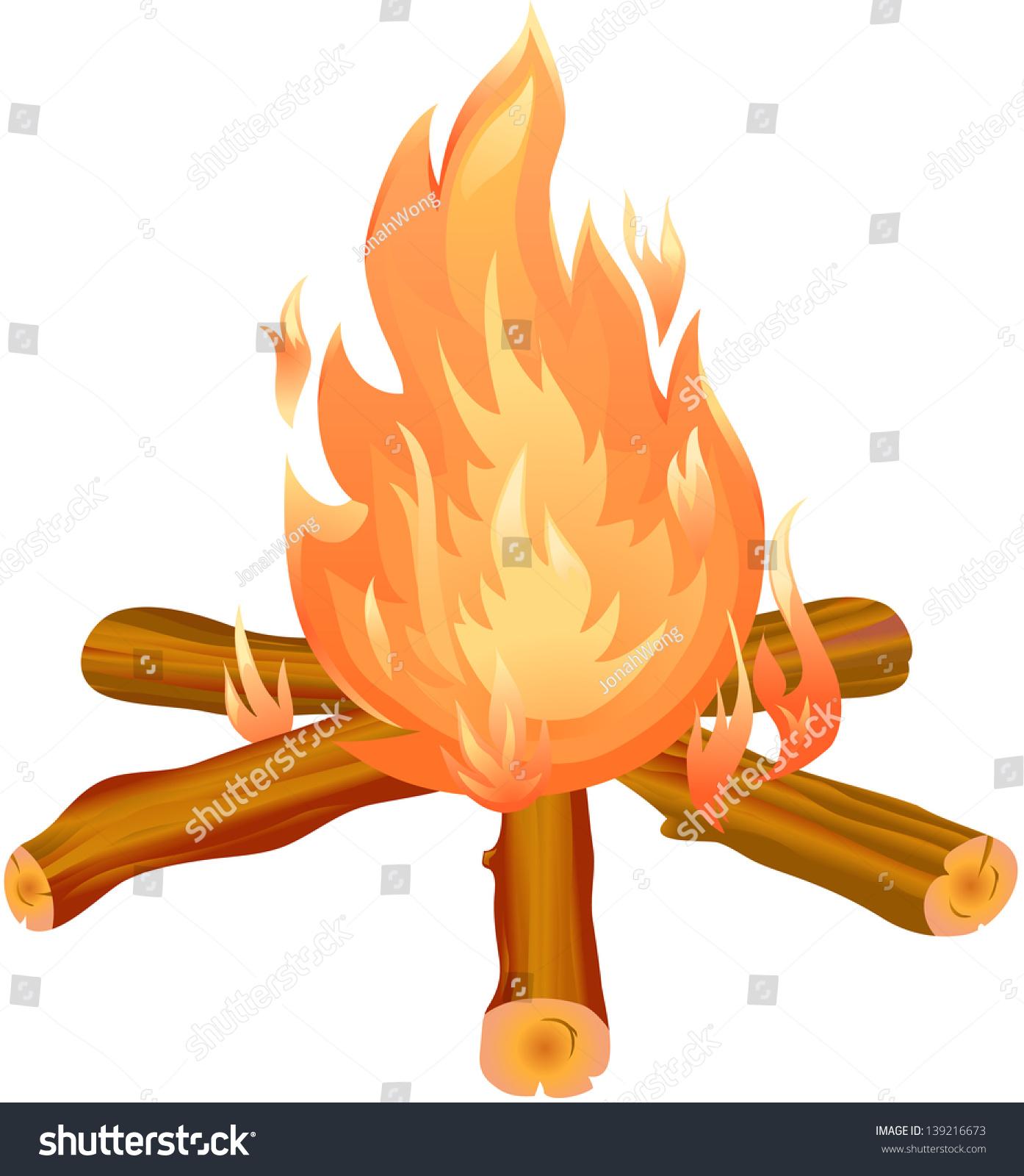 Clip Art Bonfire Clipart bonfire clipart stock vector 139216673 shutterstock clipart