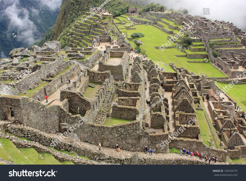 Archeology Ancient Aztec Civilization Inca Peru Stock Photo ...