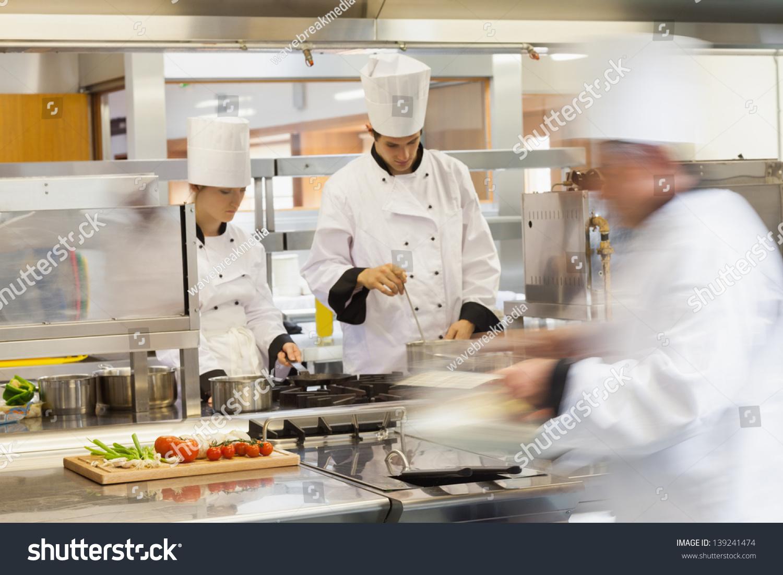Restaurant Kitchen Chefs busy chefs work restaurant kitchen stock photo 139241474