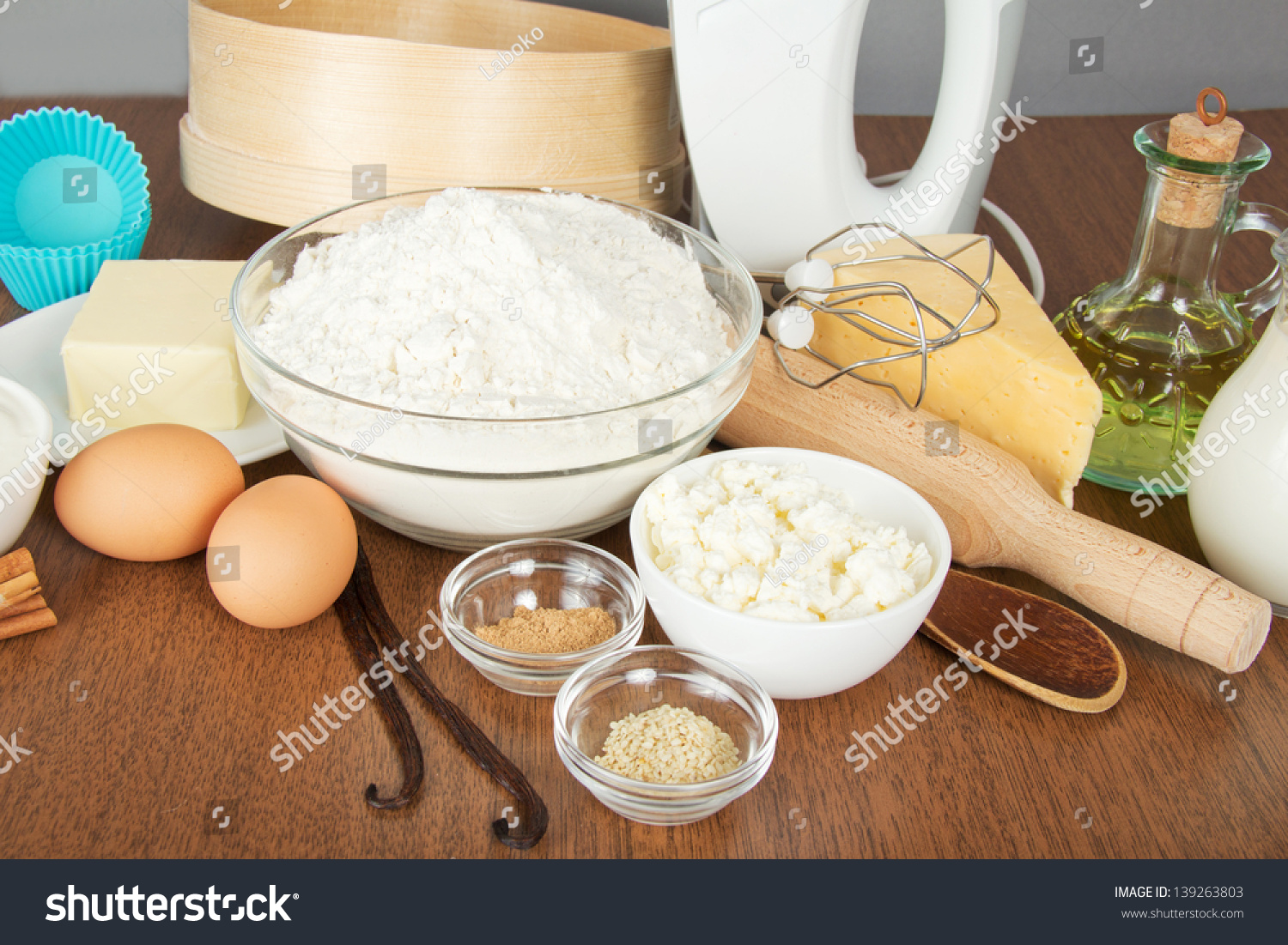 Brilliant Cottage Cheese Cheesespices Butter Mixer Cake Stock Photo Home Interior And Landscaping Analalmasignezvosmurscom