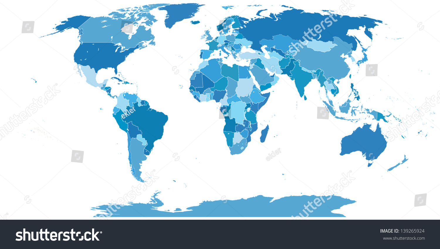 High Detail World Map Elements Separated Vector 139265924 – Map Detail