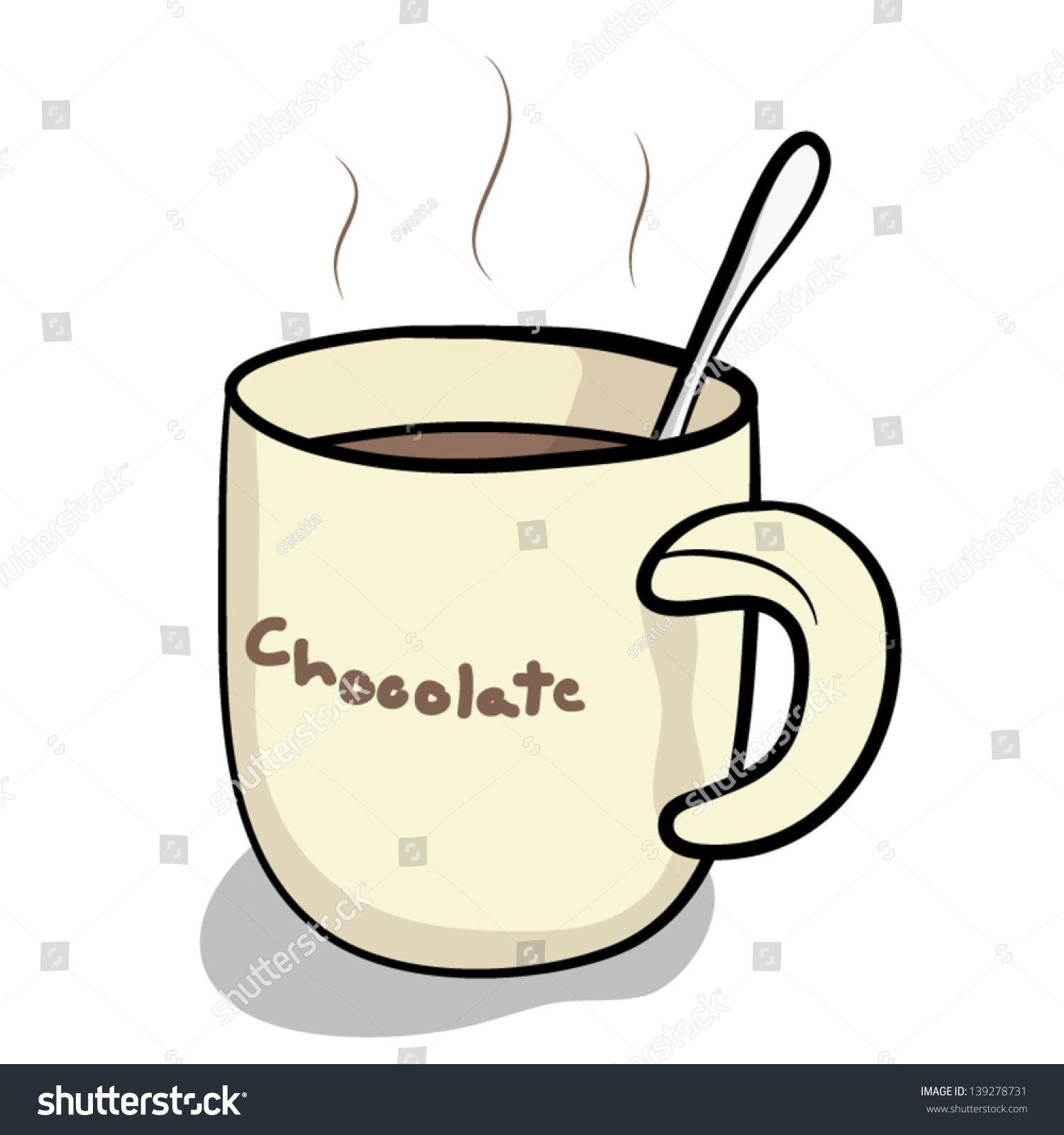 cup hot chocolate spoon cartoon vector stock vector royalty free rh shutterstock com hot chocolate cart trike uk hot chocolate carlton centre lincoln