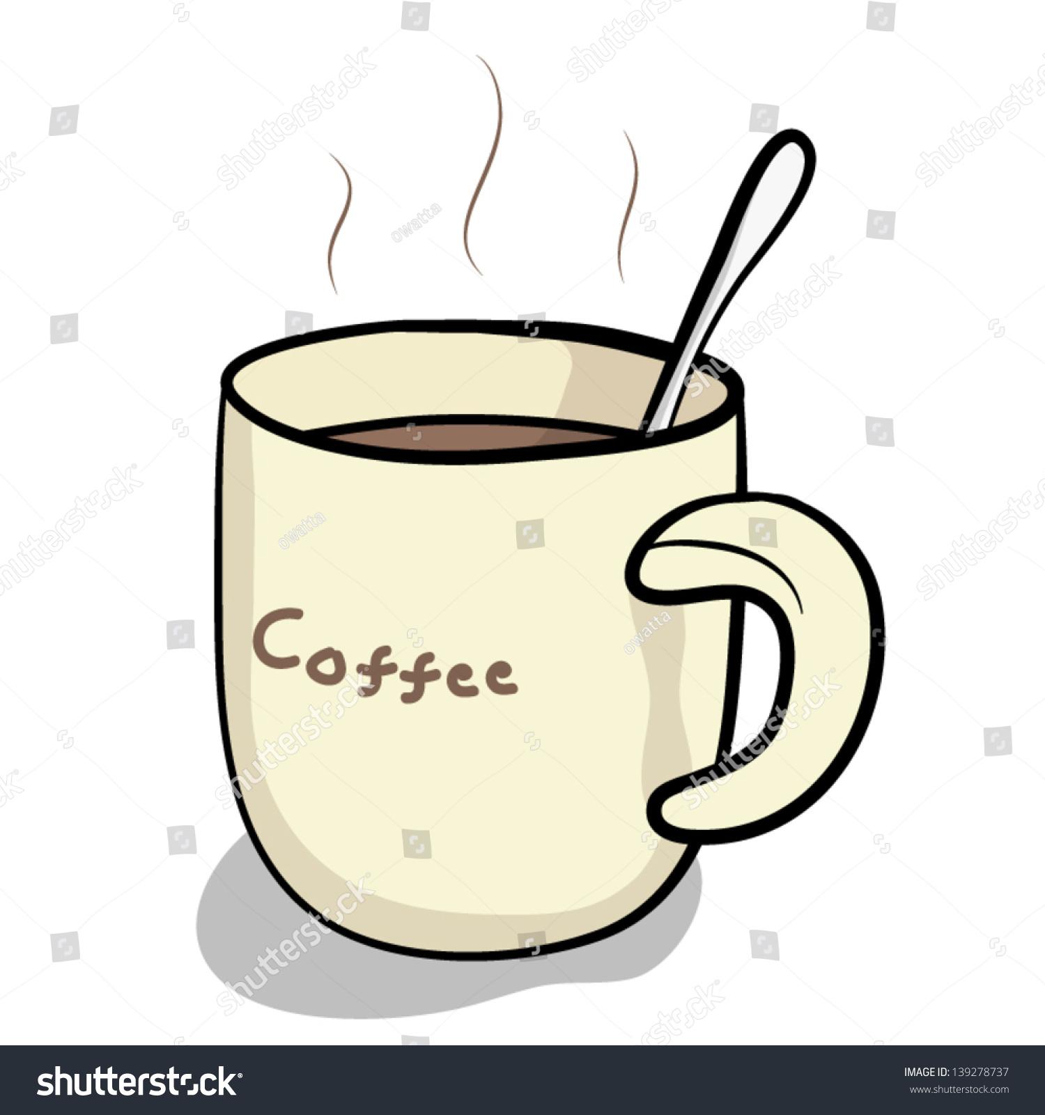 hot coffee white background - photo #33