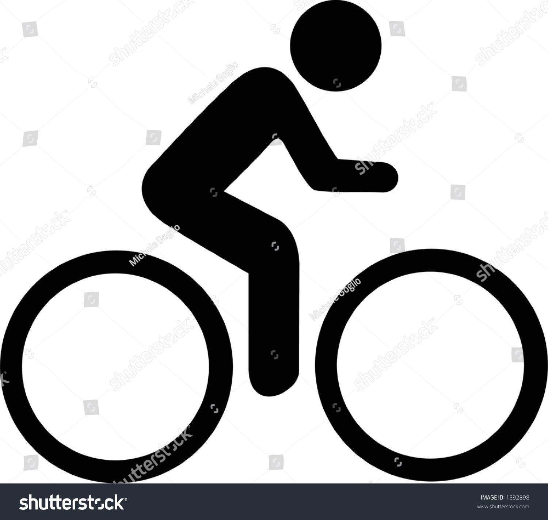 Symbole De Cycliste Stock Illustration 1392898 - Shutterstock