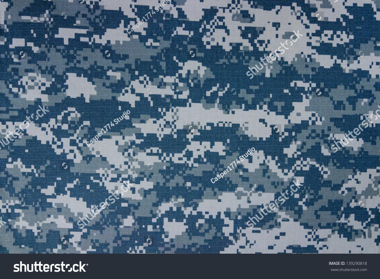 us navy digital camouflage fabric texture stock photo