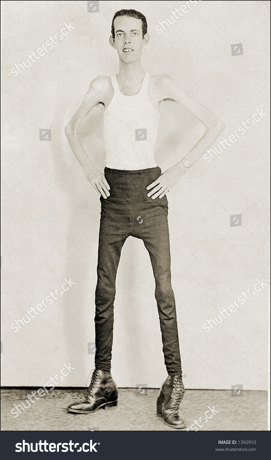 Vintage Photo Thin Man Tank Top Stock Photo 1392910 ...