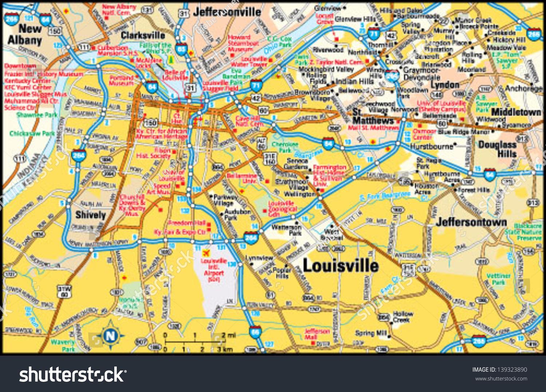 Downtown Louisville Map Downtown Louisville KY USA Mappery - Kentucky map usa