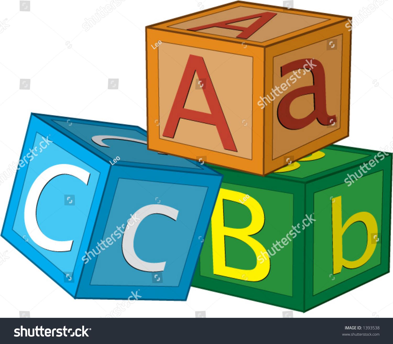 Image Of Cartoon Childrens Building Blocks A B C