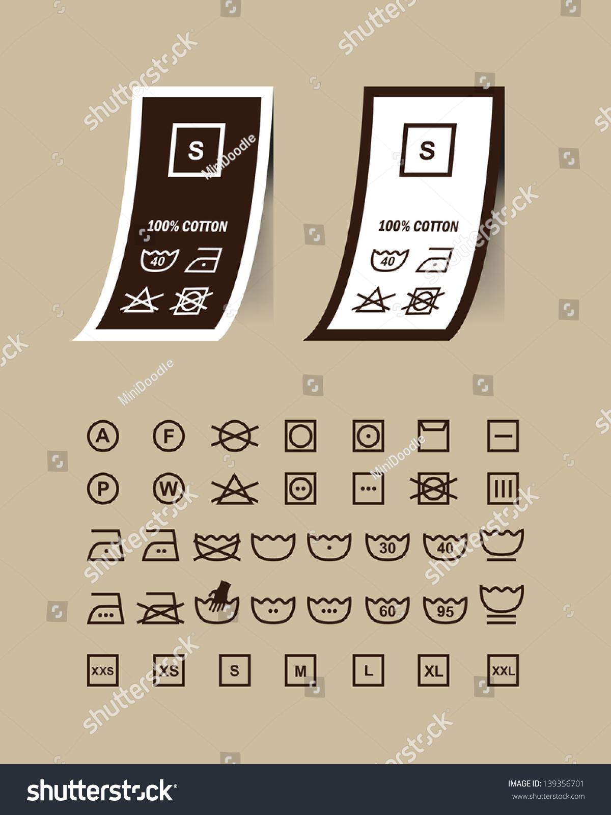 Washing symbols set on clothing labelsvector stock vector washing symbols set on clothing labelsctor biocorpaavc Images