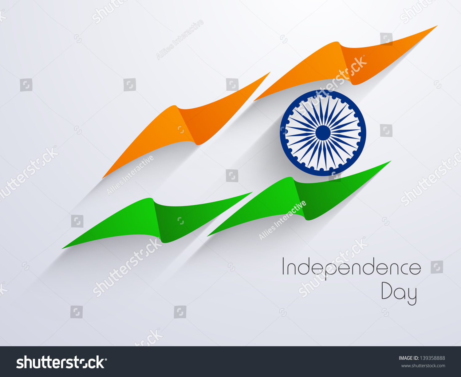 Creative Watercolor Indian Flag Background For Indian: Indian Independence Day Background Creative National Stock