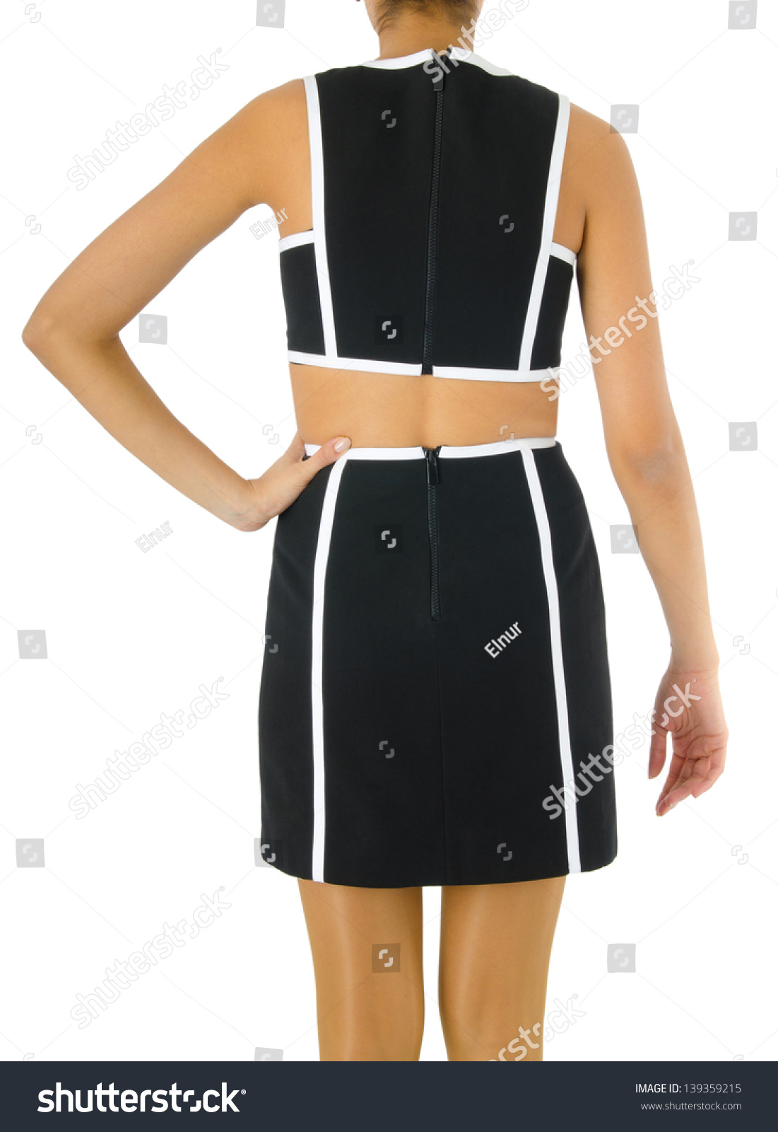 Woman Fashion Dress Concept On White Stock Photo 139359215