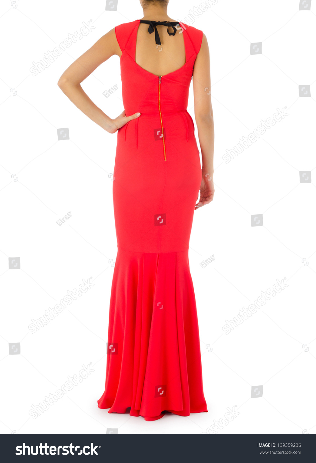 Woman Fashion Dress Concept On White Stock Photo 139359236