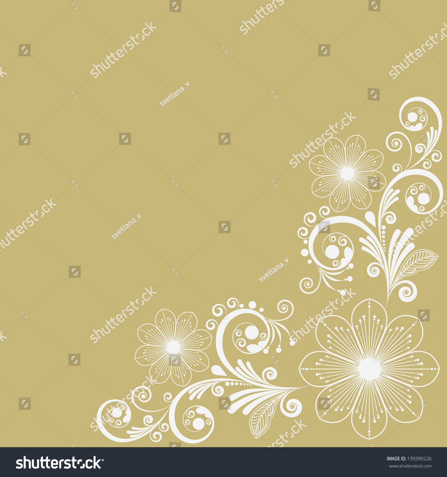 Vector Vintage Floral Background Stock Vector Royalty Free 139390226