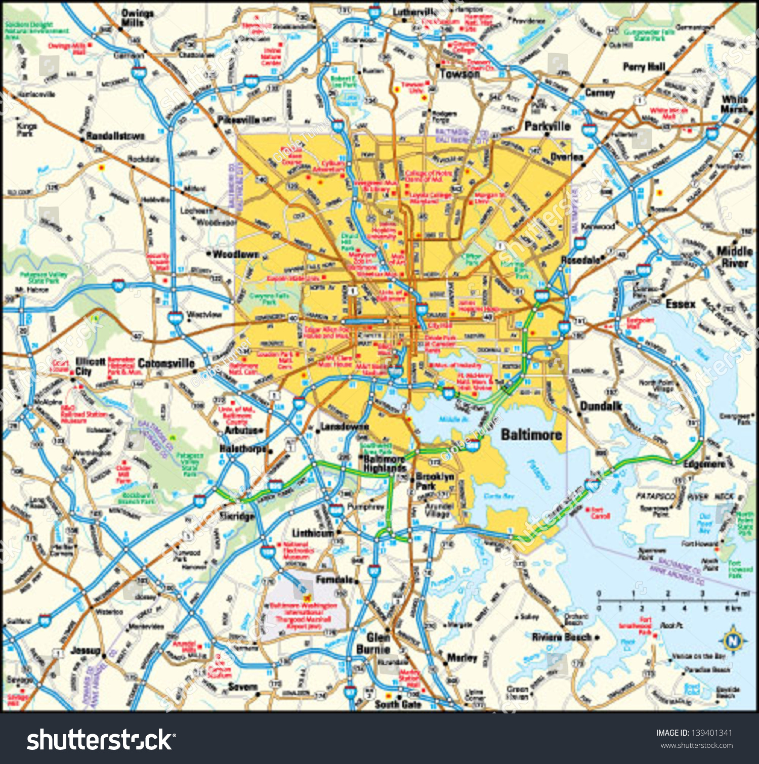 Victor Graphics Inc Baltimore Maryland Area - Baltimore maryland area map