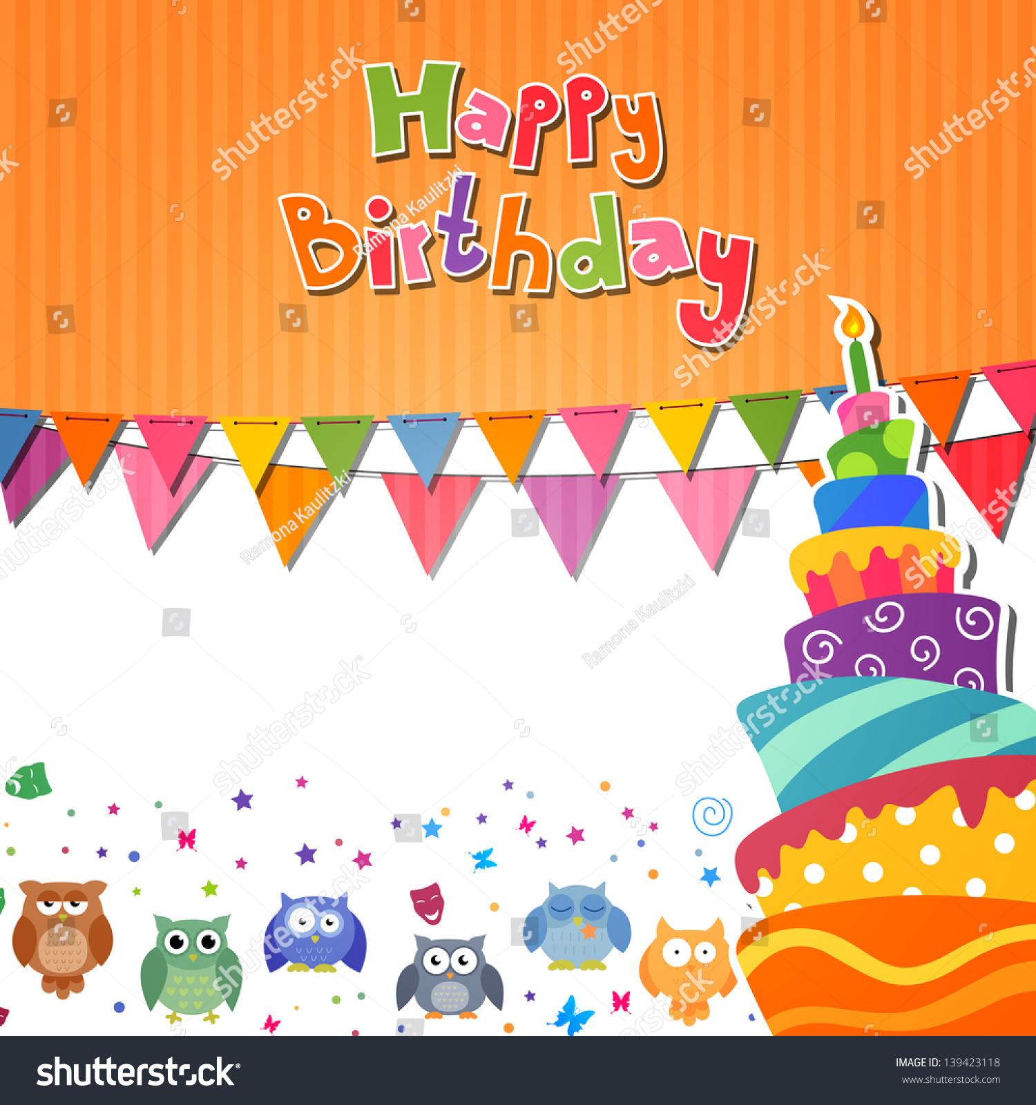 Vector Illustration Birthday Card Stock Vector