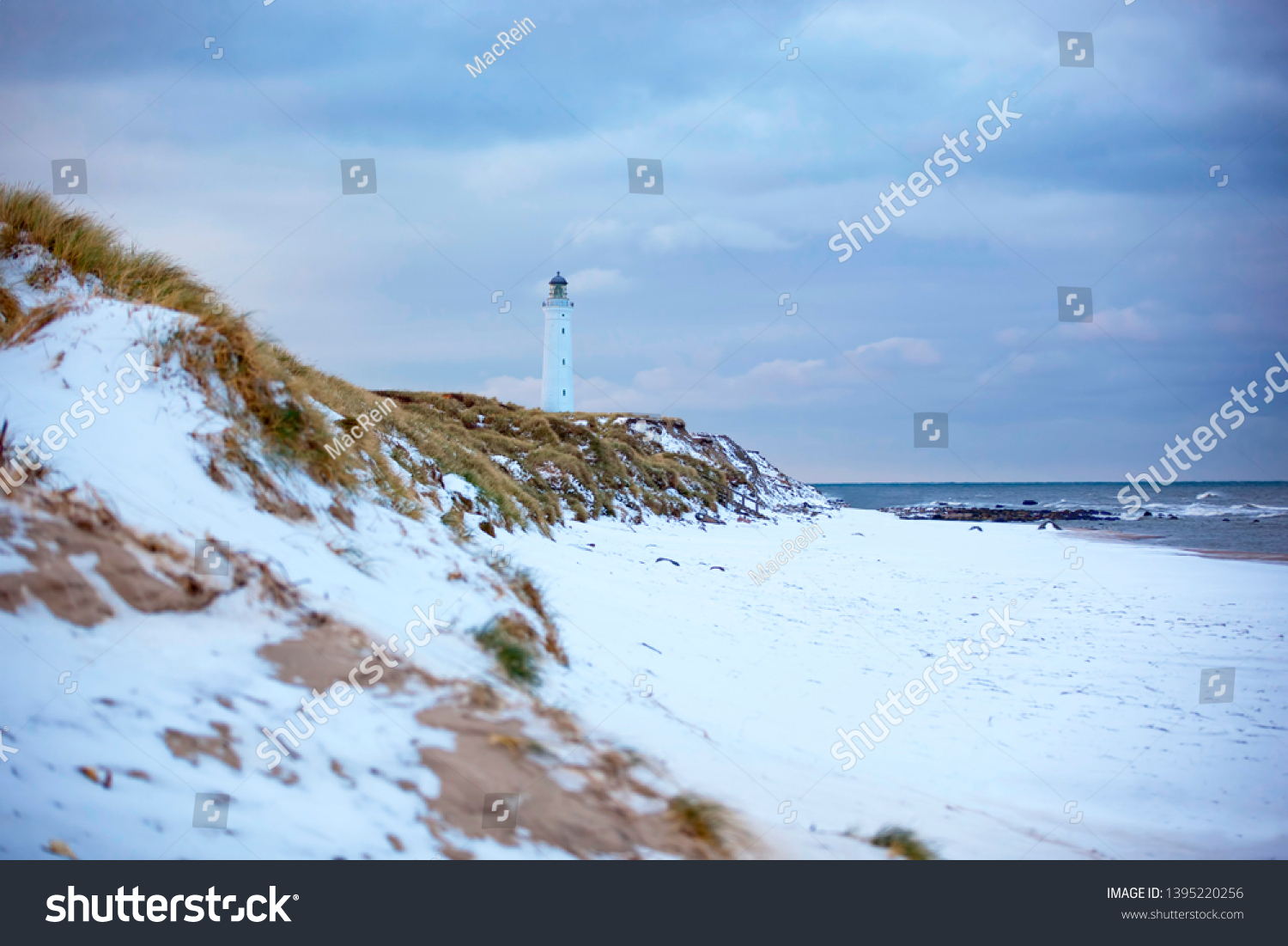 Snowy Coast On Island Sylt Germany Miscellaneous Nature Stock Image