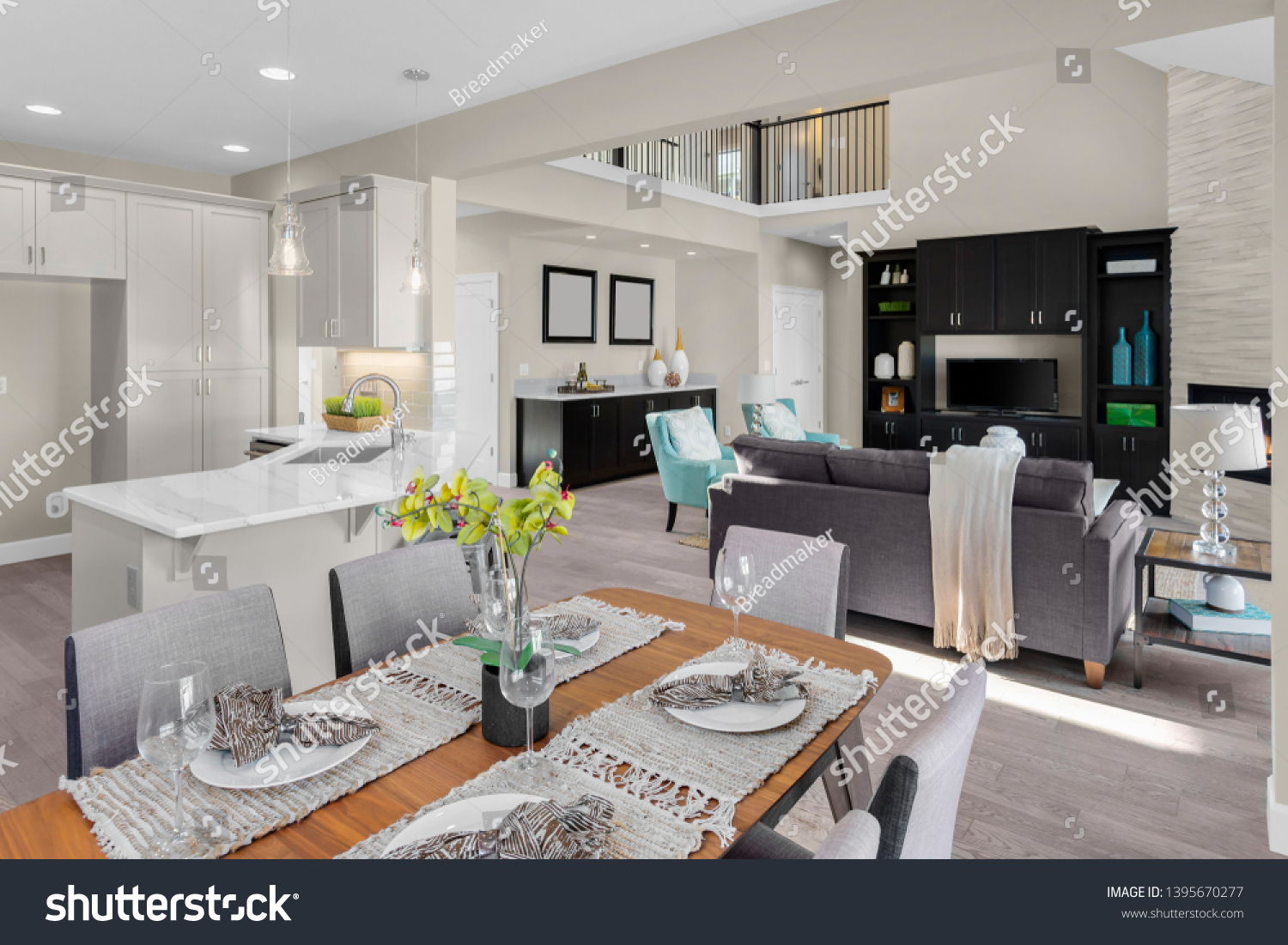 Beautiful Kitchen Dining Room Living Stock Photo Edit Now 1395670277