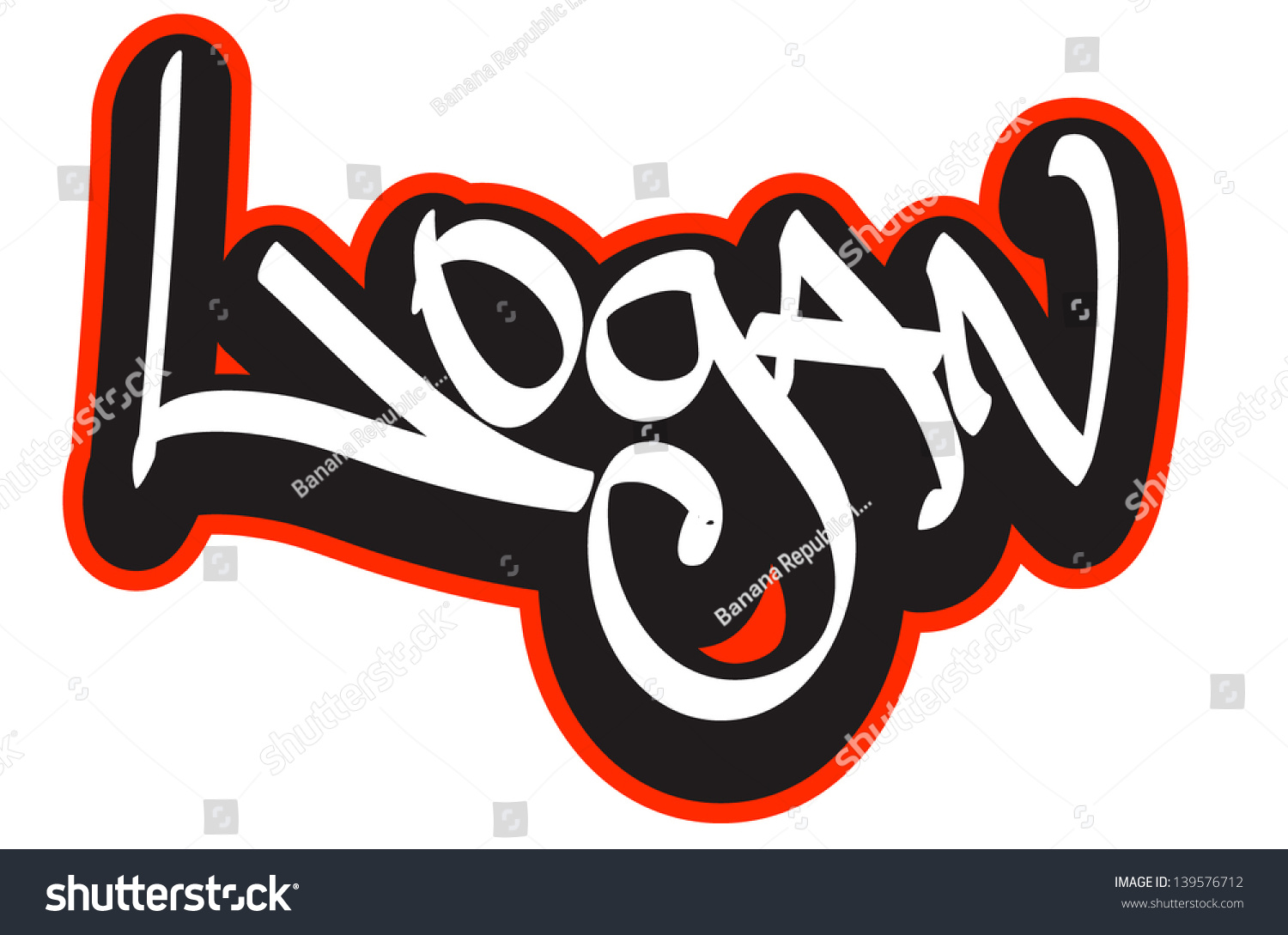 T shirt design hip hop - Logan Graffiti Font Style Name Hip Hop Design Template For T Shirt