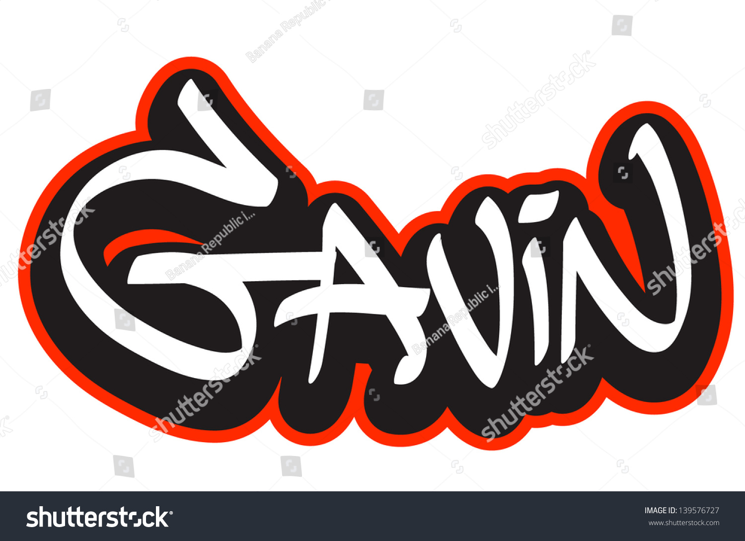 The Name Gavin In Cool Letters