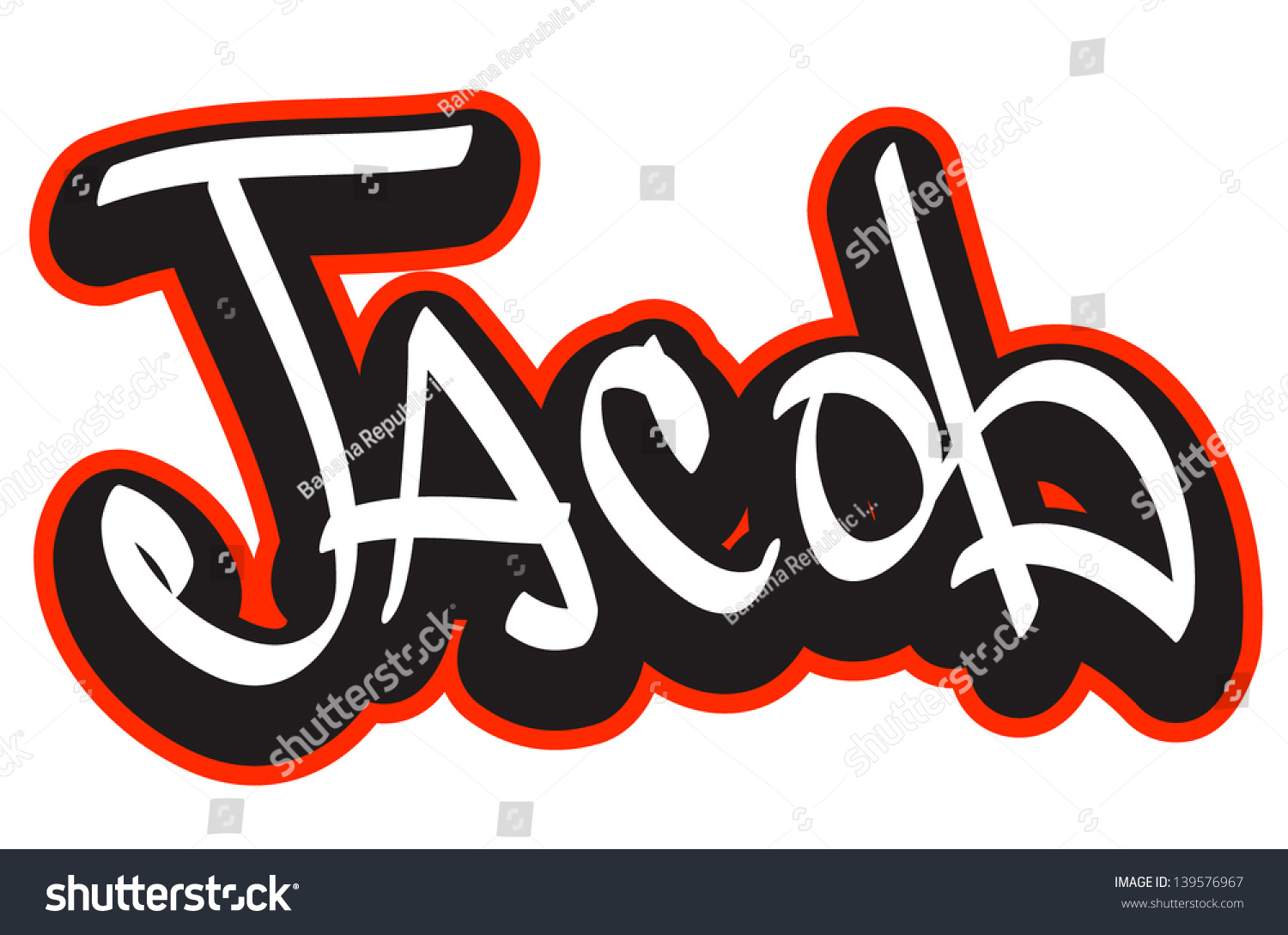 T shirt design hip hop - Jacob Graffiti Font Style Name Hip Hop Design Template For T Shirt