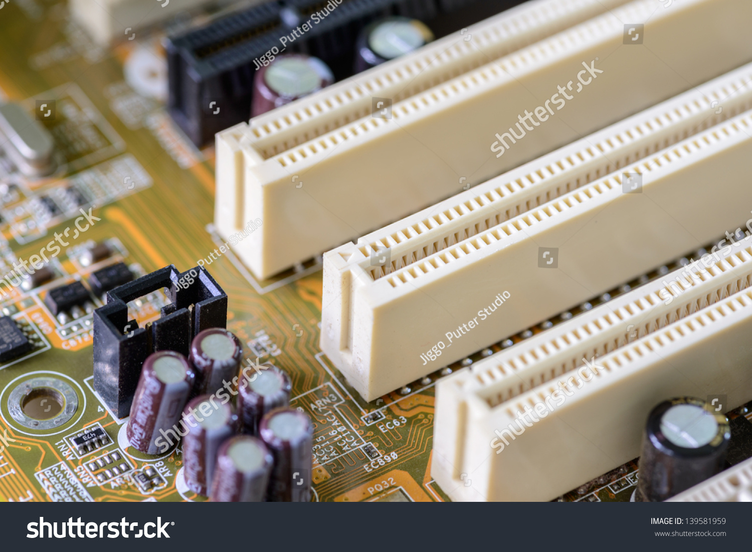 Printed Circuit Board Populated With Some Components
