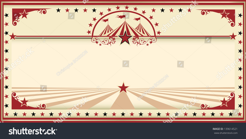 Circus Card Red Vintage Invitation Card Vector 139614521 – An Invitation Card