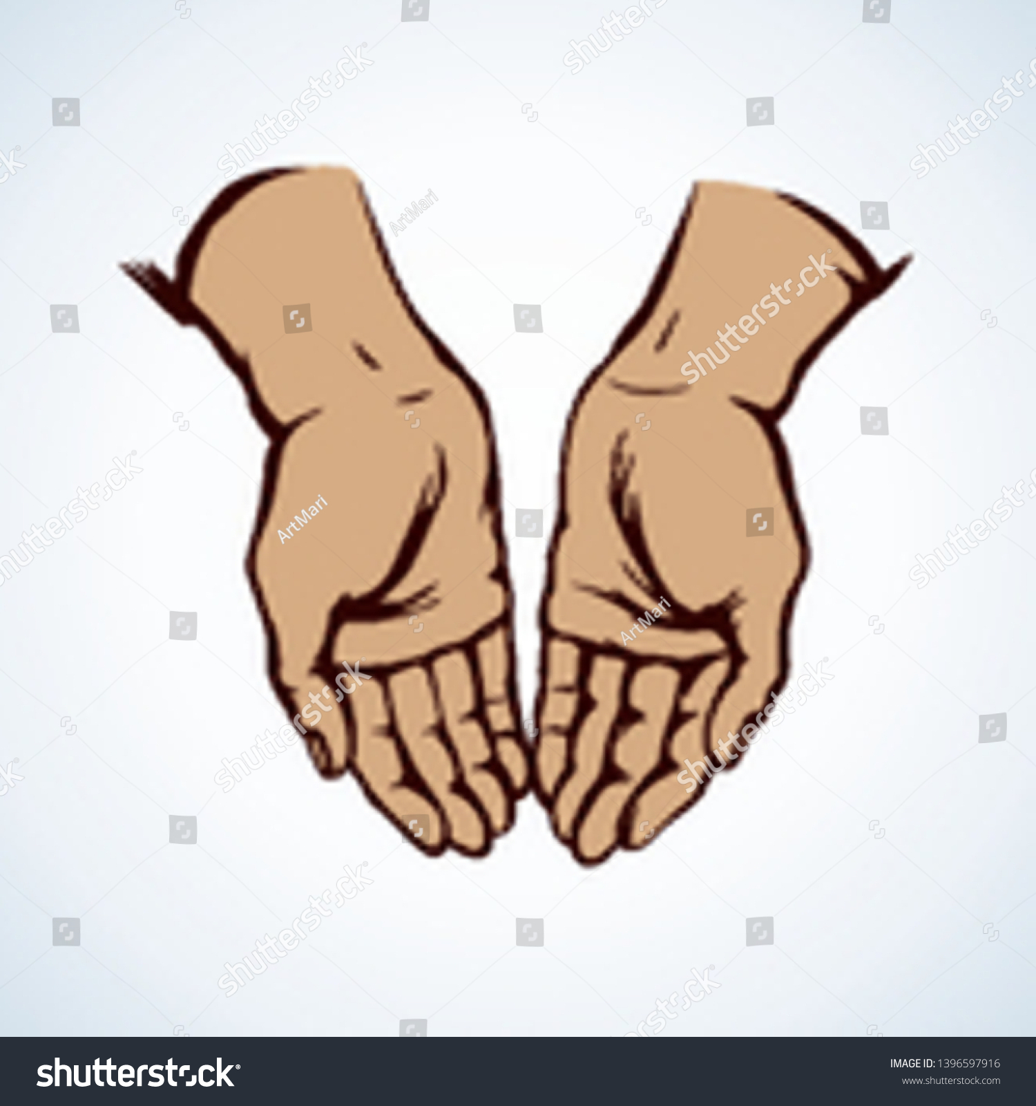 Sin Body Palm Help Praise On Stock Vector Royalty Free 1396597916
