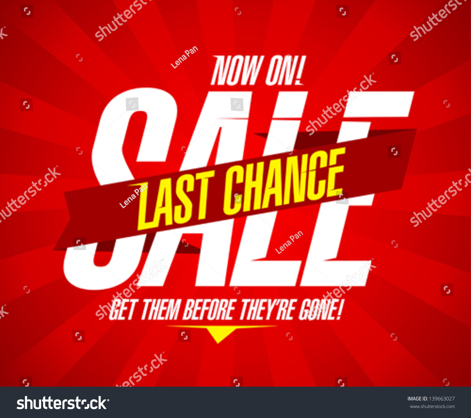 Now On Last Chance Sale Design Stock Vector 139663027 - Shutterstock