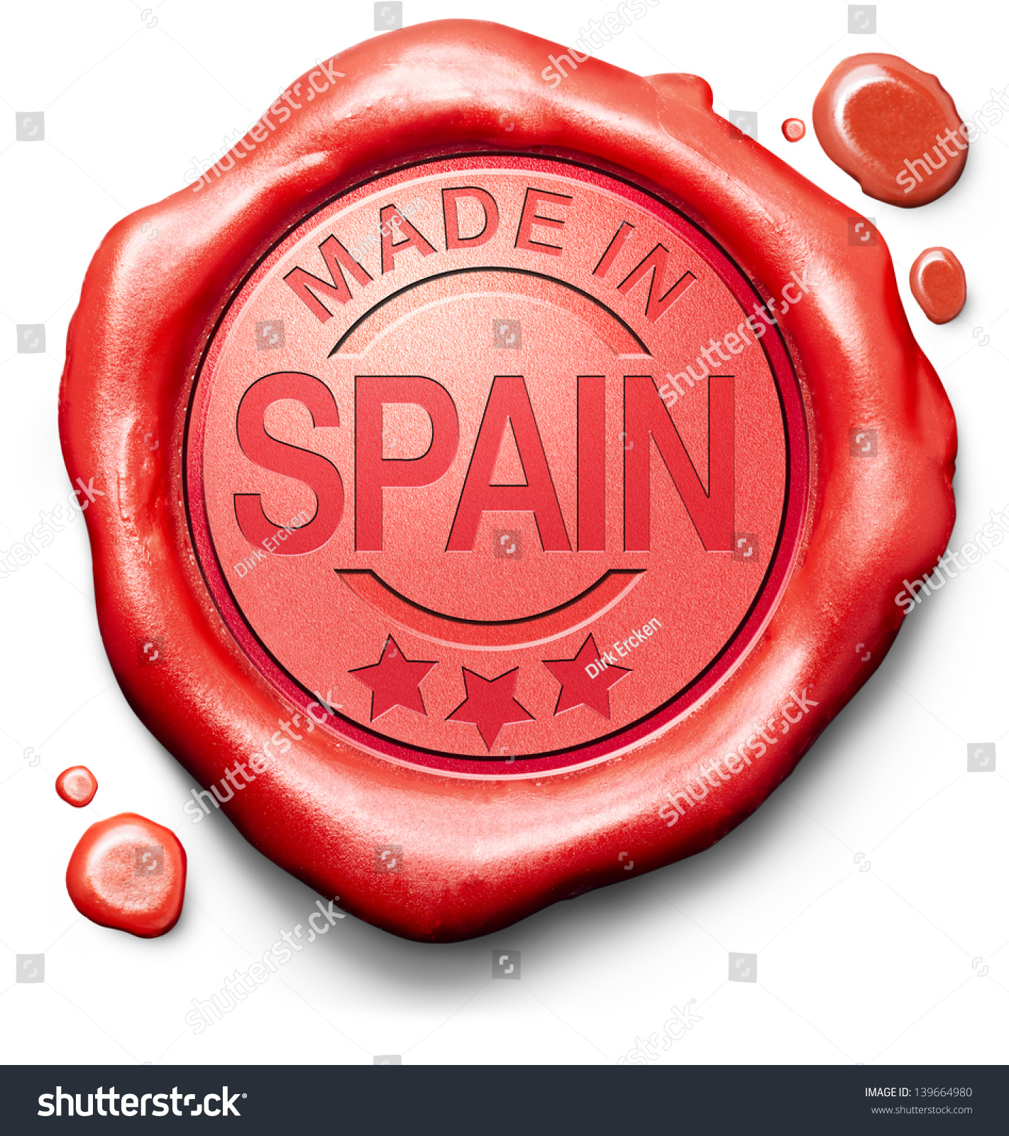 Made In Spain Original Product Buy Local Buy Authentic Spanish Quality Label Red Wax Stamp Seal Imagen de archivo (stock) 139664980 : Shutterstock1422 x 1600 jpeg 1111kB