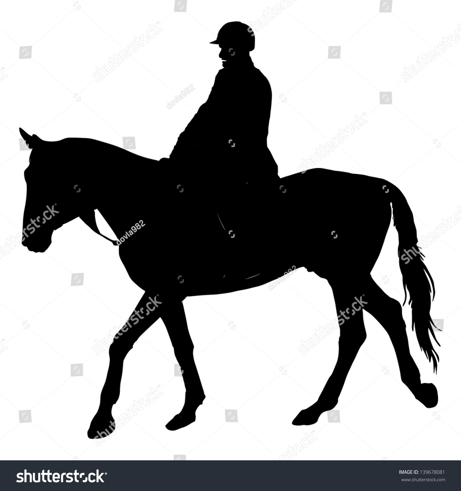 English horse silhouette