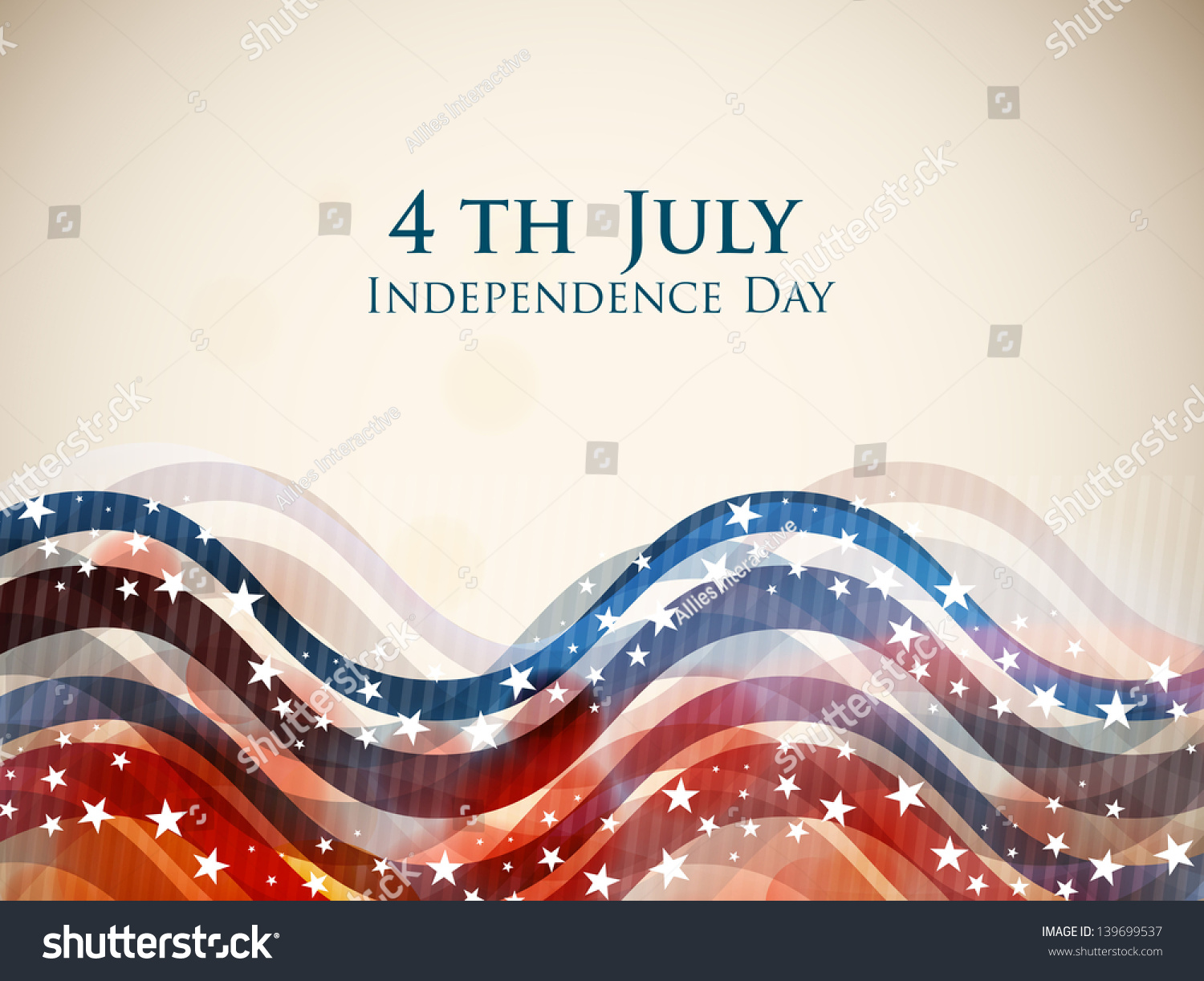 4th of july american independence day colorful waves for Th background color