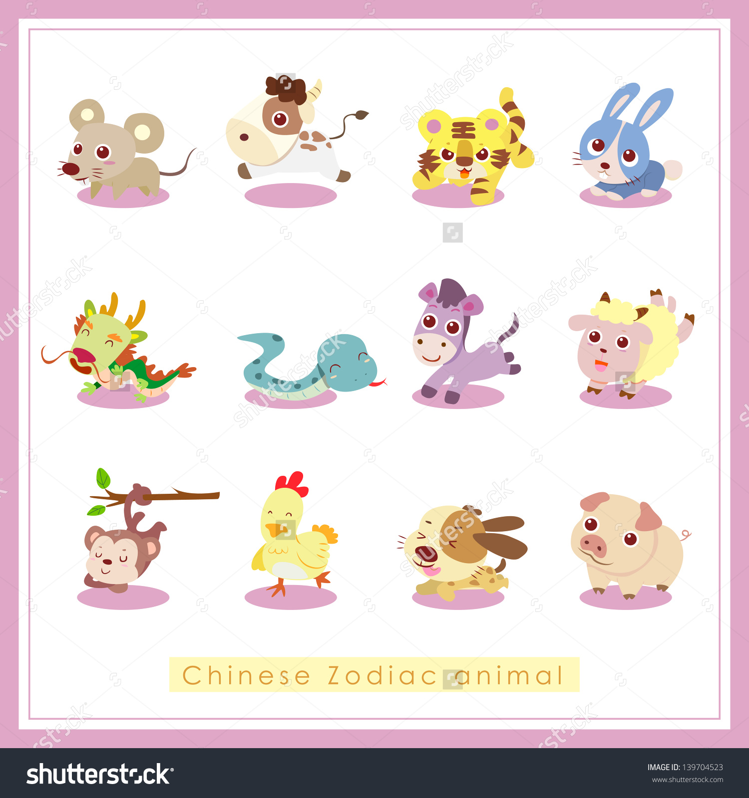 cartoon animal stickers in - photo #10