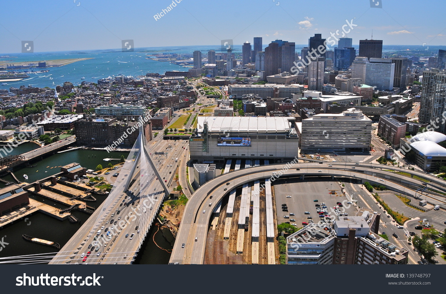 Boston July 30 Aerial View Td Stock Photo 139748797 Shutterstock