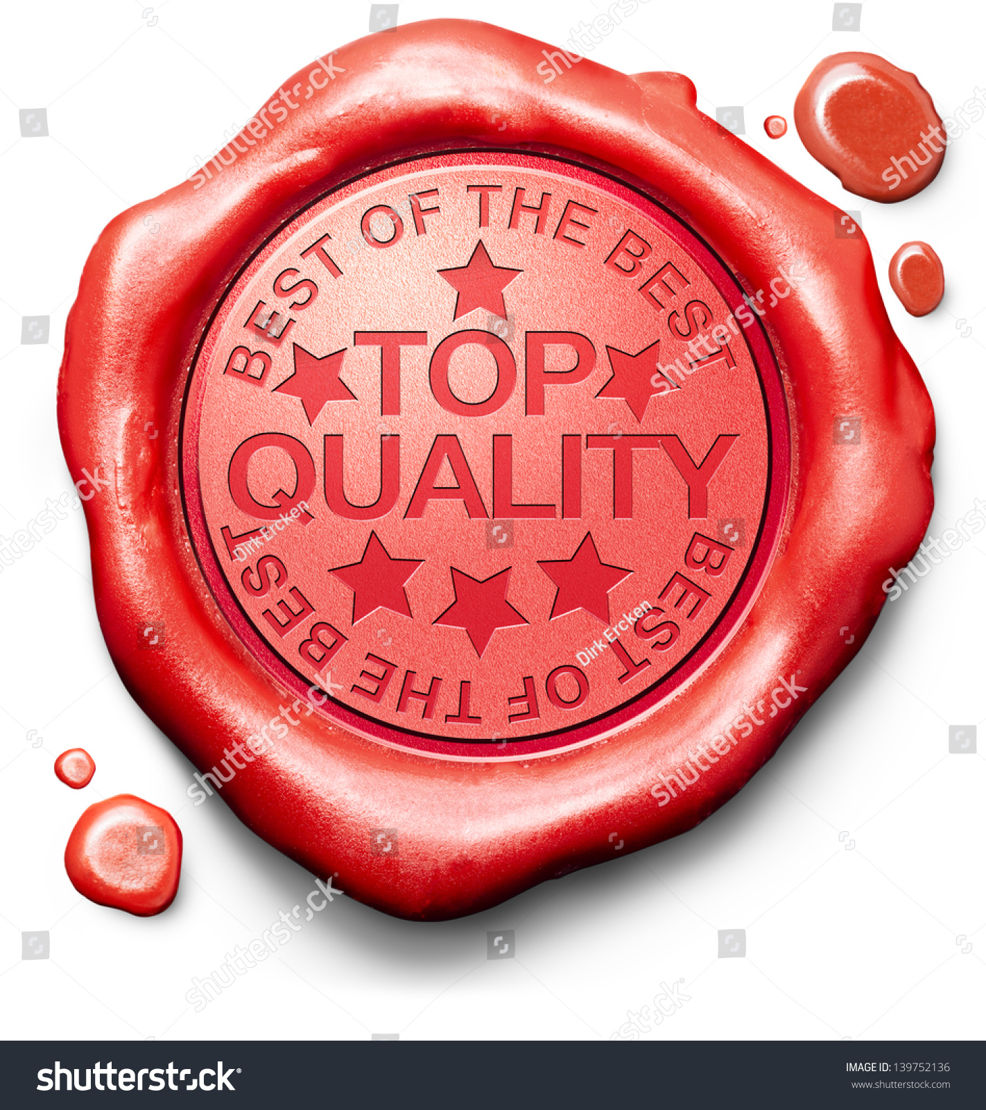 top quality best best label red stock illustration  top quality best of best label red wax stamp icon confirmed qualities certificate 100% guaranteed
